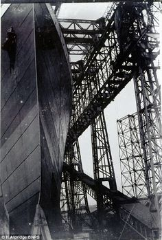 5 of 5 - The snaps were taken at 12.15pm on May 31, 1911 by a Belfast businessman who was given close access to the doomed liner at the Harland and Wolff shipyard