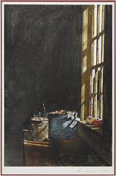 Artwork by Andrew Wyeth, Cranberries, Made of collotype Andrew Wyeth Paintings, Andrew Wyeth Art, Jamie Wyeth, Nc Wyeth, Watercolor Paintings, Watercolour, American Artists, Les Oeuvres, Windows