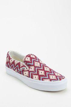 Vans Geo Print Women's Slip-On Sneaker #urbanoutfitters