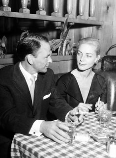 Frank Sinatra and Lauren Bacall by  Unknown Artist