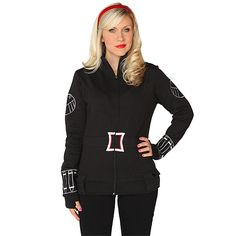 Black Widow Ladies' Zip-Up Jacket