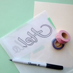 so many possibilities. im thinking of a scripture canvas that i paint, do washi tape, then modge podge or laquer. hmmm..... Omiyage Blogs: DIY Washi Tape Script Cards