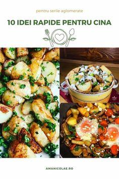 10 idei rapide pentru cina - Ama Nicolae Kung Pao Chicken, Pasta Salad, Ethnic Recipes, Food, Smoothie, Crab Pasta Salad, Essen, Smoothies, Meals