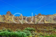 Qdiz Stock Images Mountains landscape on Tenerife island,  #blue #Canary #day #island #landmark #landscape #mountain #national #nature #park #rock #sky #Spain #spring #summer #Teide #Tenerife #Travel #view