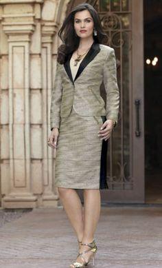 Della Bouclé Skirt Suit from Midnight Velvet. www.midnightvelvet.com