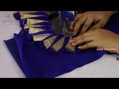 How to Cut and Stitch Paithani Saree Blouse Design Saree Blouse Neck Designs, Fancy Blouse Designs, Dress Neck Designs, Stitching Dresses, Dress Sewing Patterns, Blouse Styles, Youtube, Work Blouse, Bridal Lehenga