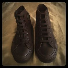 Size 6 all black converse high tops These are women's size 6 (men's 4) all black high top converse. Only worn a few times and in very good condition. Converse Shoes Sneakers