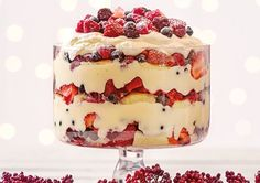 Try this yummy Summer Berry Trifle with fresh berries, layers of custard and soft sponge cake!