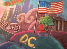 Chalk Art Mural for the Native Foods location in San Diego