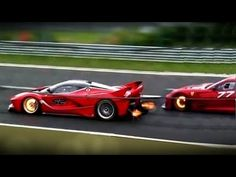 Ferrari FXX-K and 599XX -PURE SOUND +Glowing Brakes & Shooting Flame! - YouTube