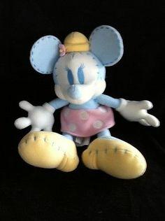 Minnie Mouse Pastel Color Stitch Walt Disney Co Plush Stuffed Animal Tush Tag   eBay
