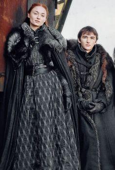 Bran and Sansa Stark   Game of Thrones Season 7
