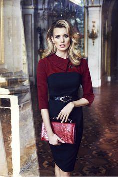 Caterina Leman sheath dress - burgundy plaid & navy - professional fashion | office style