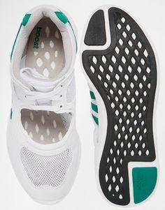 Adidas | adidas Originals White Equipment Racing 91 Trainers at ASOS