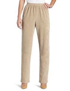 Alfred Dunner Women's Corduroy Pant Proportioned Medium (16 Short, Tan) * Click image for more details.