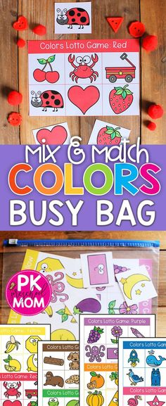 Color matching is an important skill to learn during the preschool year. Students learn visual discrimination skills while sorting these colorful pictures. Each colors bingo mat includes Preschool Color Theme, Preschool Color Activities, Learning Games For Preschoolers, Preschool Centers, Preschool At Home, Free Preschool, Preschool Printables, Sorting Games, Teaching Colors