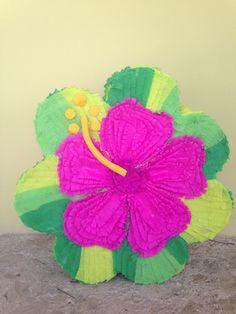 Hibiscos piñata, hawaiian piñata, hawaiian Party, pool party!