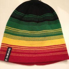 SKULLCANDY-RASTA-BEANIE-BEENIE-NEW-MENS-MULTICOLOR