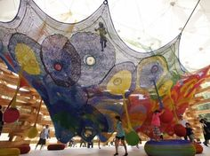 Interactive Crocheted Playgrounds by Toshiko Horiuchi-McAdam.