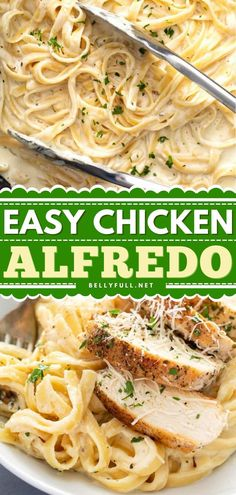 In search of more chicken recipes for dinner? Learn how to make Chicken Alfredo! Coated in a rich, creamy sauce, this easy meal is what comfort food is all about. Pin this pasta recipe for later! Easy Pasta Recipes, Easy Chicken Recipes, Dinner Recipes, Easy Meals, Easy Crockpot Chicken, Fried Chicken Breast, Alfredo Recipe, High Calorie Meals, Chicken Alfredo