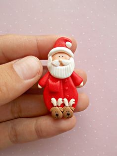 Christmas Jewelry - Santa Pins Brooch - Winter Jewelry - Gift for kids - Christmas Gift - Christmas Jewelry – Santa Pins Brooch – Winter Jewelry – Gift for kids – Christmas Gift - Polymer Clay Ornaments, Polymer Clay Projects, Polymer Clay Charms, Polymer Clay Creations, Polymer Clay Art, Polymer Clay Jewelry, Clay Crafts, Clay Beads, Clay Earrings