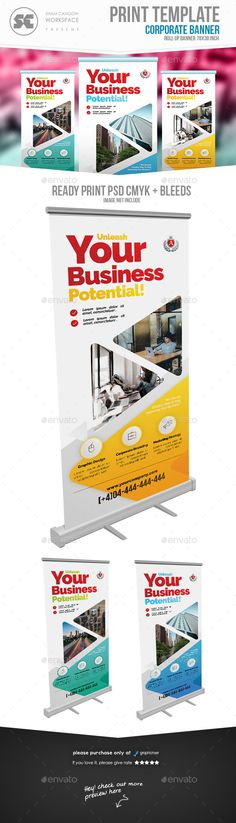 #Business Roll Up Banner - #Signage Print Templates