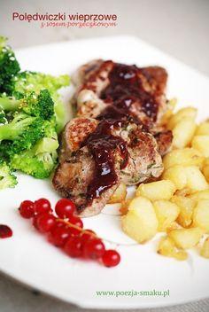 Polędwiczki z sosem porzeczkowym (Pork sirloins with red currant sauce - recipe in Polish)