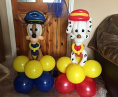 Paw patrol dogs by Sonia's Balloons and venue Decor. Www.soniasballoons.co.uk.