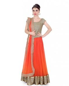 Orange Lehnga Gold Sequence fabric corset ,orange softnet ghaghra with sequence and gota heavy border on it,orange softnet dupatta with gold cut work border on it.  Color : Orange  #Ootd #Potd #Qotd #Fashion #Shopping #WomenWear #IndianWear #Style #Blogger #Mumbai #Wedding #OutfitOfTheDay #Fashion #Anarkali #Traditional #Shopping #WomenWear #DesignerWear #Designer #FashionDesigner #IndianDesigner