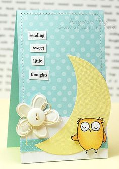 'Sending You Little Thoughts' Baby Card by Krysten Sky (Kryssi Ng), via Flickr