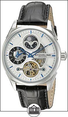 Stuhrling Original Delphi - Reloj automático, para hombre, con correa de cuero, color negro de  ✿ Relojes para hombre - (Gama media/alta) ✿