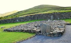 This stone formation at Gallarus oratory, Kerry probably represents an early medieval 'Leacht'. It may mark burial spot of important cleric