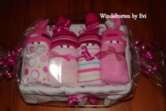 Windelbabys 'Eulchen',  Windeltorte von Windeltorten By Evi auf DaWanda.com