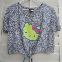 "Selling this ""Hello Kitty Graphic Heather Gray Burnout Crop Top"" ?..Size: Medium ... $20      __________.      Ladies-Obsessions@mail.com"