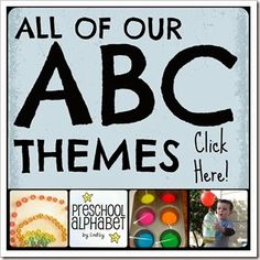 This looks interesting!  Everything is organized by the letter into themes!  Lots of ideas for Letter of the Week!