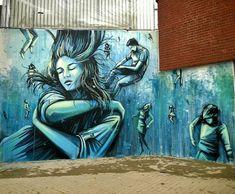 Amburgo, Germania: nuovo pezzo della street artist italiana Alice Pasquini. LINK UTILI: Alice Pasquini su questo blog | Website | Flickr | Facebook fan page | Twitter ————&#…