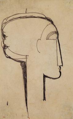 Titulo de la imágen Amadeo Modigliani - Head in Profile