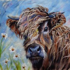 """""""My latest wet felted wool art. Wet Felting Projects, Felting Tutorials, Felt Projects, Sewing Projects, Diy Projects, Wooly Bully, Felt Pictures, Felt Birds, Felt Cat"""