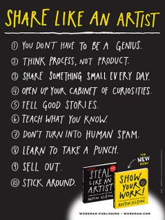 """Austin Kleon is a writer who draws. """"Show your Work"""" is a book for people who hate the very idea of self-promotion. The Words, Austin Kleon, Workshop, Artist Quotes, Self Promotion, Book Show, You Working, Words Quotes, Sayings"""