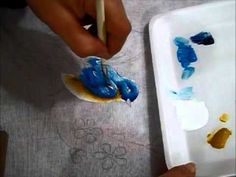 Como pintar pássaros - how to paint birds - cómo pintar las aves - Ariane Cerveira - YouTube