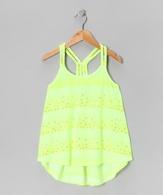 Take a look at this Yellow Stripe Braided Tank by Hydraulic on #zulily today!