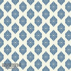 23-327334 Waverly Small Prints Rasch Textil blaues Ornament