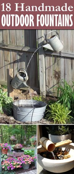 Here are 18 awesome DIY Outdoor Fountain Ideas from the expensive to the thrifty.