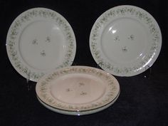 """$19.99 Johann Haviland Bavaria Forever Spring Dinner Plates 10"""" - FOUR NICE! #JohannHaviland"""