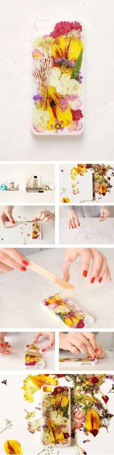 DIY pressed-flower iPhone case