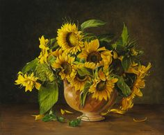 Jan Teunissen Born at Veldhoven North-Brabant (Netherlands), about 1970 he moved to the neighbouring Best and developed himself there from 1983 as classic realistic art painter. Sunflower Photography, Life Paint, Sunflower Art, Dutch Artists, Fantastic Art, Matisse, Art World, Painting Inspiration, Art Pictures
