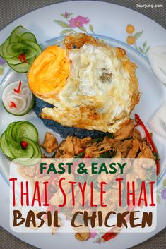 Try out one of Thailand's most iconic food - Pad Grapao Gai, or Stir-Fried Thai Basil Chicken. It's very simple and even though it taste fantastic alone, it's much better with a runny fried egg on top. Thai Basil Chicken, Tasty Thai, Recipe Icon, Spicy Chicken Recipes, Basil Recipes, Thai Street Food, Easy Delicious Recipes, Brunch Recipes, Dinner Recipes