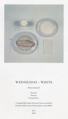 The Chromatic Diet by Sophie Calle