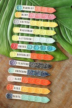 Marqueurs de lherbe / / herbe tags / étiquettes du jardin / | Etsy