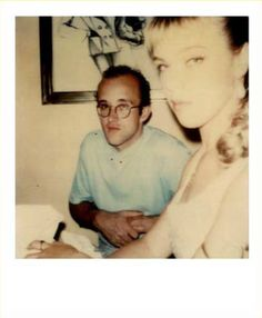 Debbie Mazar and Keith Haring by Maripol